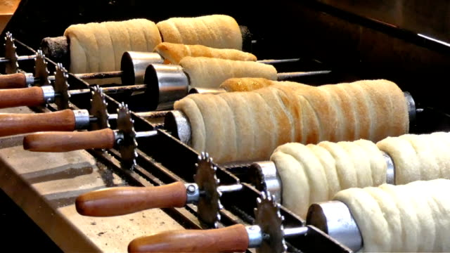 trdelnik - traditionally czech stock videos & royalty-free footage