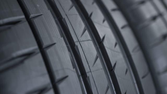 Tread pattern on a car street tire