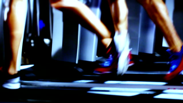 treadmill and fitness exercising - limb body part stock videos & royalty-free footage