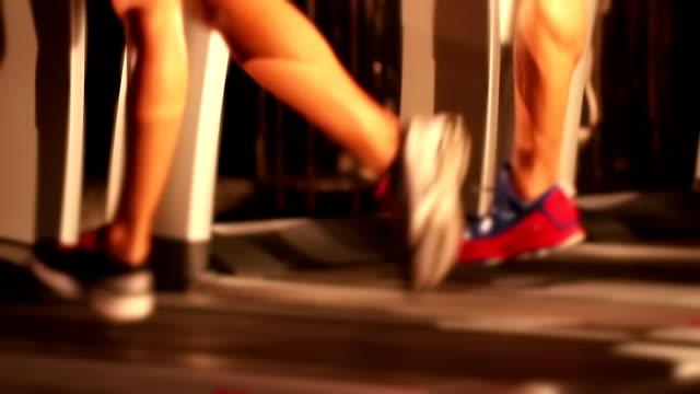 laufband und fitness-training - menschliche gliedmaßen stock-videos und b-roll-filmmaterial