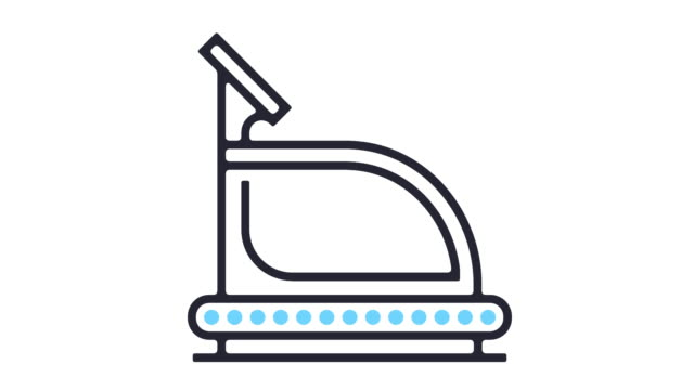 treadmill icon animation - measuring stock videos & royalty-free footage