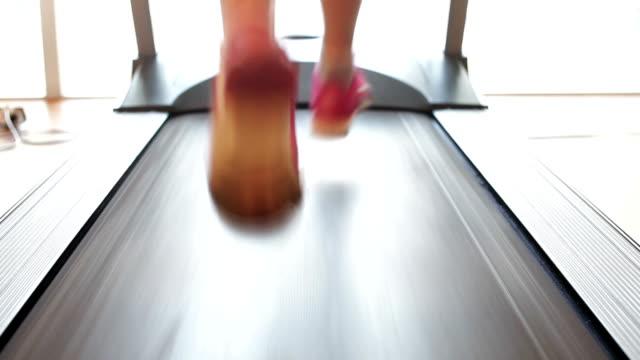 treadmill, running - human limb stock videos & royalty-free footage