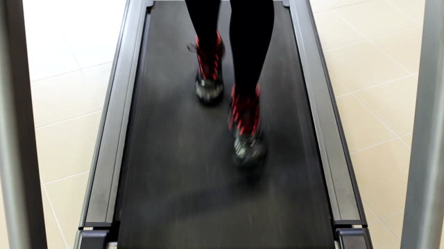 treadmill workout - racewalking stock videos and b-roll footage