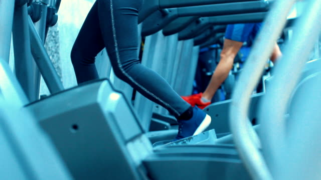 treadmill workout. - spandex stock videos & royalty-free footage