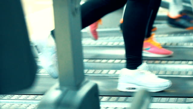 treadmill workout. - lycra stock videos & royalty-free footage