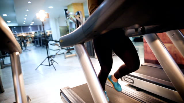 treadmill workout - good posture stock videos & royalty-free footage