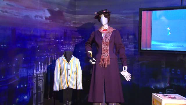 treasures of walt disney archives opens up at chicago museum costumes from 'mary poppins' at museum of science and industry on october 17, 2013 in... - julie andrews stock videos & royalty-free footage