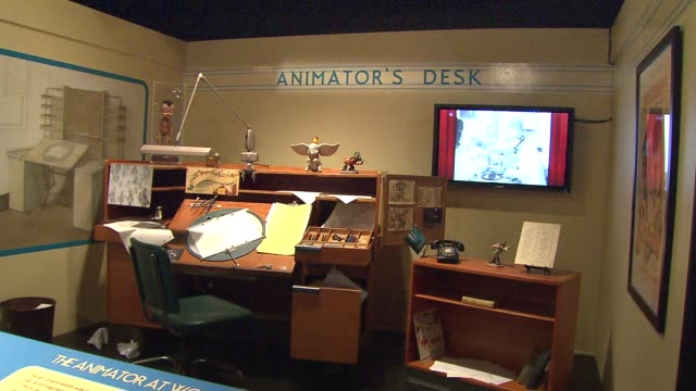 treasures of walt disney archives opens up at chicago museum walt disney's animator's desk at museum of science and industry on october 17, 2013 in... - animator stock videos & royalty-free footage