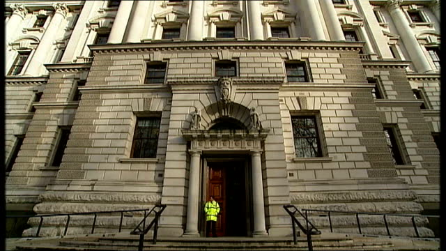 treasury select committee is told financial regulator ignored warnings over kaupthing ext general views treasury building exteriors - financial building stock videos and b-roll footage