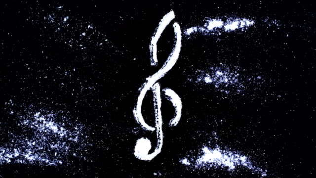 treble clef - musical symbol stock videos & royalty-free footage