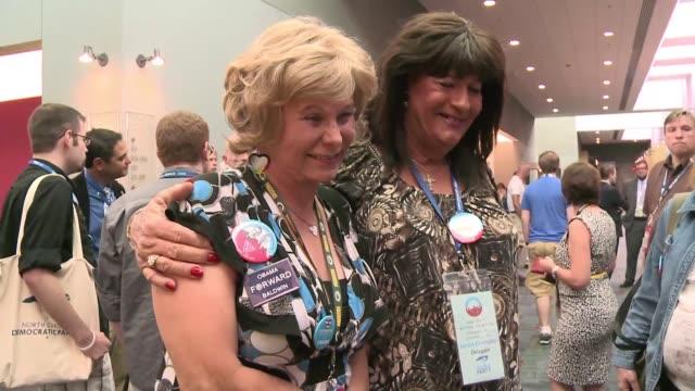 trece delegados transexuales participan de la convencion democrata de esta semana un numero historico que representa la evolucion de los derechos... - numero stock videos & royalty-free footage