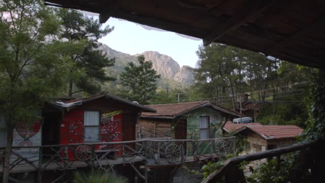 tree house hostel - olympos, turkey - treehouse stock videos & royalty-free footage