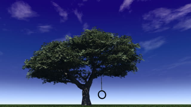 tree swing - tyre swing stock videos & royalty-free footage
