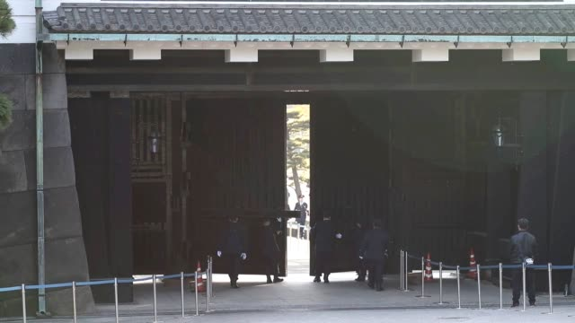 a treelined street that runs south to north in the compound of the imperial palace in central tokyo was opened to the public on dec 1 allowing... - emperor akihito stock videos and b-roll footage