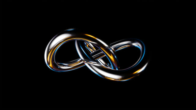 trefoil knot with alpha channel - eternity stock videos & royalty-free footage