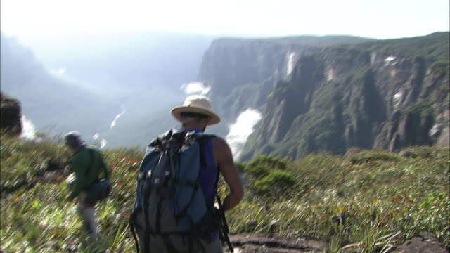 Trekking Along The River On Top Of Auyantepui In Guiana Highlands
