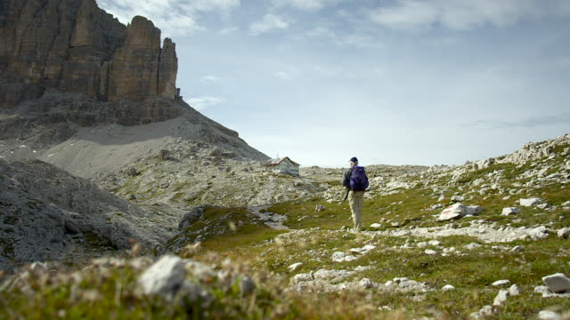 trekking day in the mountains - trentino alto adige stock videos & royalty-free footage