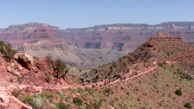 hd: trekking in grand canyon - grand canyon stock videos and b-roll footage