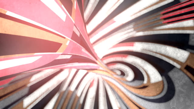 trendy background with moving colored stripes. depth of field. psychedelic optical illusion. seamless loop animation. 3d rendering. 4k, ultra hd resolution - optical illusion stock videos & royalty-free footage