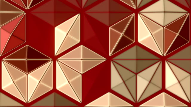 trendy design element with multi colored honeycomb abstract pattern. 3d rendering seamless loop animation. hd resolution - design element stock videos & royalty-free footage