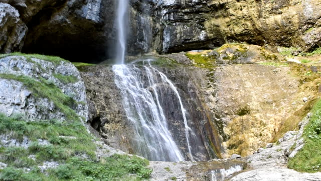 tret waterfall in val di non, trentino-alto adige, italy - cascata stock videos and b-roll footage