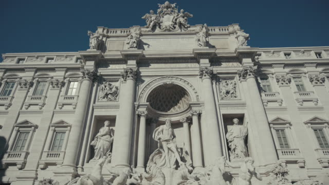 Trevi Fountain in Rome cleaned up and restored
