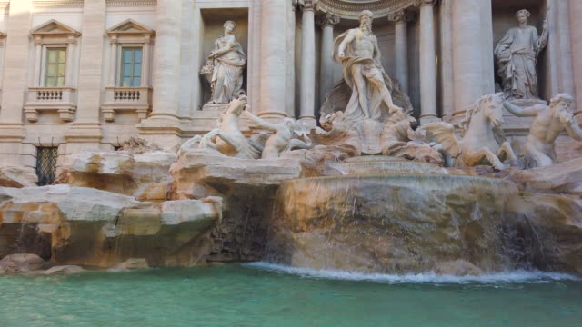 trevi fountain in rome - federico fellini stock videos & royalty-free footage