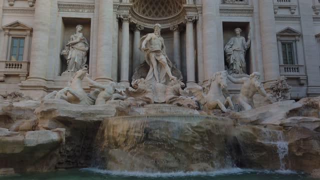 ローマのトレビの泉 - ラツィオ州点の映像素材/bロール