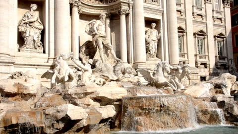 trevi fountain in rome (hd) - female likeness stock videos & royalty-free footage