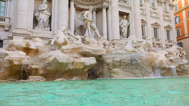 trevi fountain, rome, italy - fountain stock videos & royalty-free footage
