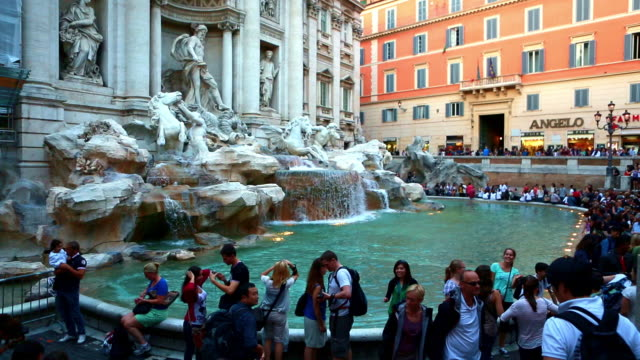 trevi fountain - fountain stock videos & royalty-free footage