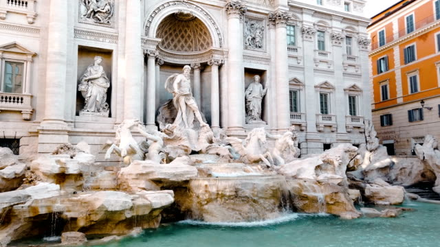trevi foutain in rome - rome italy stock videos & royalty-free footage
