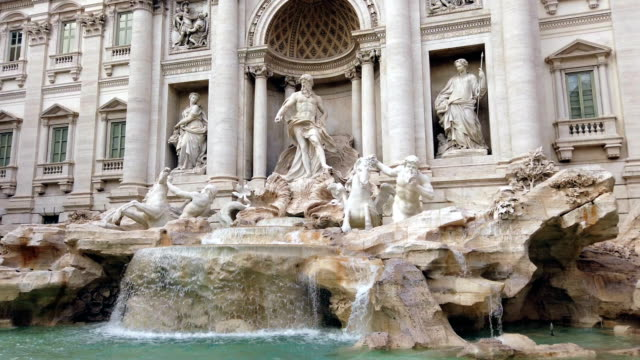 trevi foutain in rome - city break stock videos & royalty-free footage