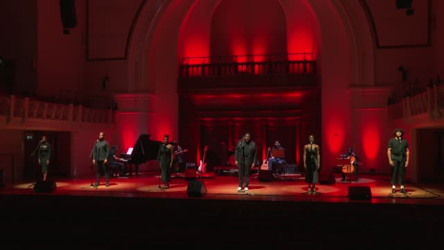 trevor dion nicholas, cherelle williams, vanessa fisher, billy nevers & aaron lee lambert sing glory at 'turn up london' at cadogan hall during 'turn... - majestic stock videos & royalty-free footage