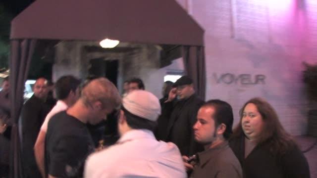 Trevor Donovan Frankie Delgado arrive at Voyeur in West Hollywood at the Celebrity Sightings in Los Angeles at Los Angeles CA