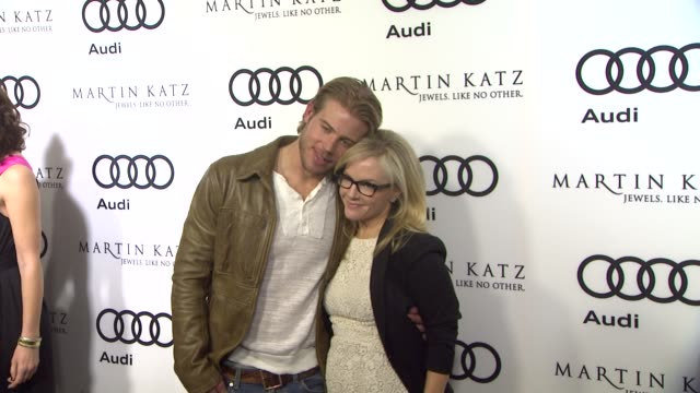 trevor donovan rachael harris at the audi and martin katz celebrate the 2012 golden globe awards in west hollywood ca - rachael harris stock videos and b-roll footage