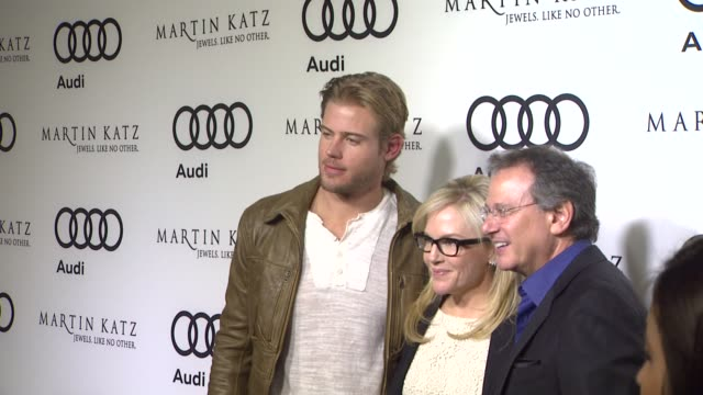 trevor donovan rachael harris martin katz at the audi and martin katz celebrate the 2012 golden globe awards in west hollywood ca - rachael harris stock videos and b-roll footage