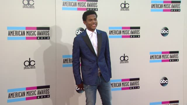 trevor jackson arrives at the 2013 american music awards arrivals - 2013 american music awards stock videos & royalty-free footage