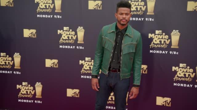 Trevor Jackson at 2018 MTV Movie TV Awards Arrivals at Barker Hangar on June 16 2018 in Santa Monica California