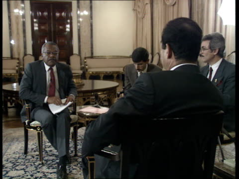 Trevor Mcdonald talks to Saddam Hussein IRAQ Baghdad Saddam Hussein interview SOF We have asked nothing in return for release of guests therefore...