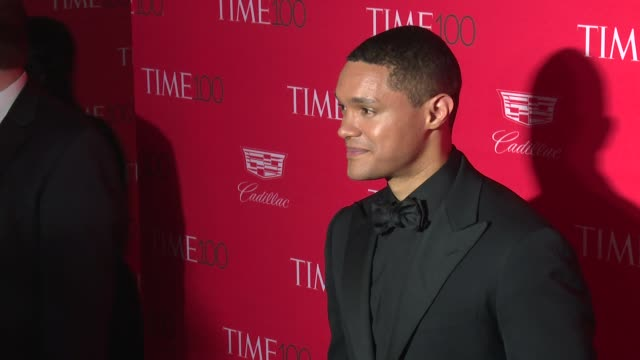 trevor noah at 2016 time 100 gala time's most influential people in the world red carpet at jazz at lincoln center on april 26 2016 in new york city - gala stock videos and b-roll footage