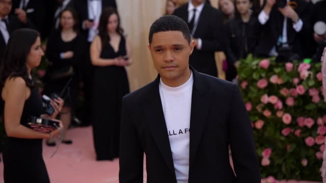 trevor noah at the 2019 met gala celebrating camp notes on fashion arrivals at metropolitan museum of art on may 06 2019 in new york city - met gala 2019 stock videos and b-roll footage