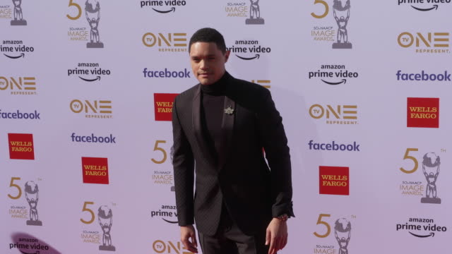trevor noah at the 50th naacp image awards at dolby theatre on march 30 2019 in hollywood california - naacp stock videos & royalty-free footage