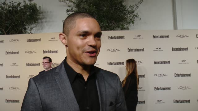 INTERVIEW Trevor Noah on participating in his first Emmy Awards celebration on favorite television moments from this past season and on what...
