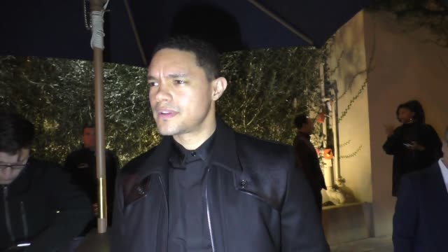 INTERVIEW Trevor Noah on Robert Kraft and Jussie Smollett outside Ysabel in West Hollywood at Celebrity Sightings in Los Angeles on February 22 2019...
