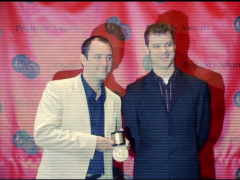 trey parker and matt stone of 'south park' at the 65th annual peabody awards at the waldorf astoria hotel in new york new york on june 5 2006 - trey parker stock videos & royalty-free footage