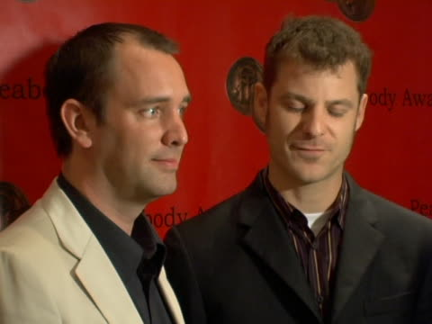 vídeos de stock e filmes b-roll de trey parker and matt stone of south park at the 65th annual peabody awards at the waldorf astoria hotel in new york city new york - atlântico central eua