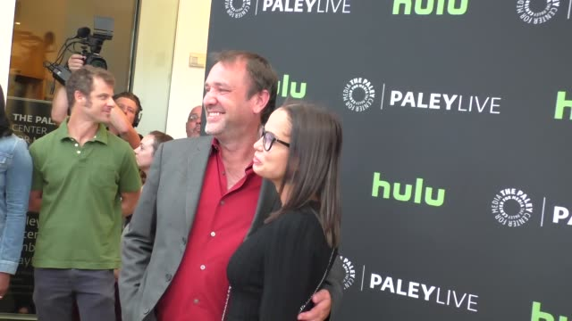 trey parker & boogie tillmon at the paley center for media presents special retrospective event honoring 20 seasons of south park at the paley center... - paley center for media los angeles stock videos & royalty-free footage