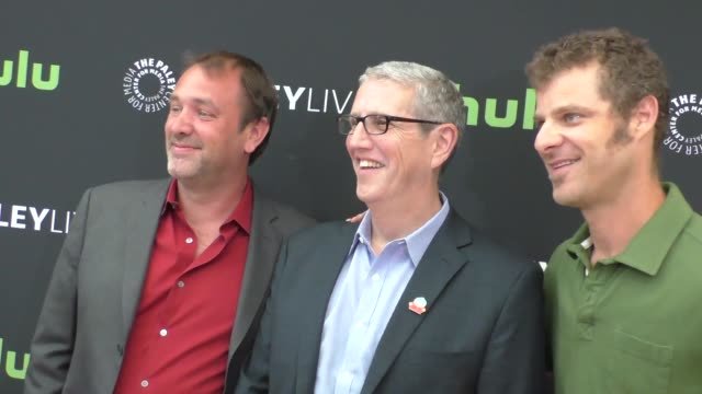 trey parker, doug herzog & matt stone at the paley center for media presents special retrospective event honoring 20 seasons of south park at the... - paley center for media los angeles stock videos & royalty-free footage