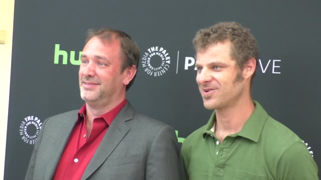 trey parker & matt stone at the paley center for media presents special retrospective event honoring 20 seasons of south park at the paley center in... - paley center for media los angeles stock videos & royalty-free footage